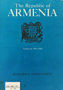 The Republic of Armenia. Vol. II, From Versailles to London, 1919-1920