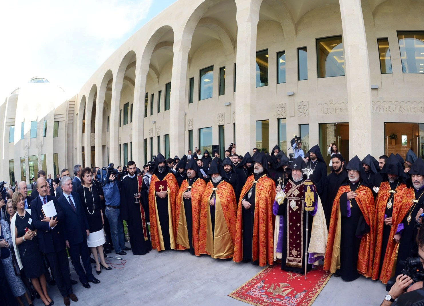 Opening of the Vatche and Tamar Manoukian Library in the Mother See of Holy Etchmiadzin